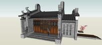 中式住宅入口徽派大门