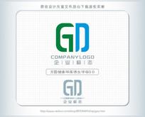 G字母D绿色健康logo设计 AI