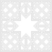 八角星雕刻图案