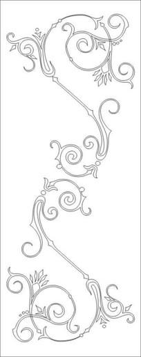 抽象花雕刻图案