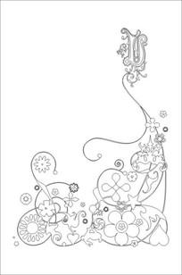 抽象花纹雕刻图案