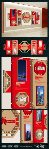 大型古典3D企业文化墙