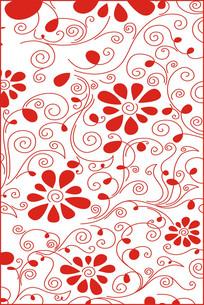 锦团花簇雕刻图案