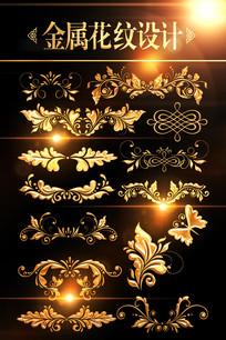欧式花纹分割线素材