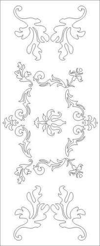 欧式图欧式花雕刻图案 CDR