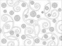 圈圈雕刻图案