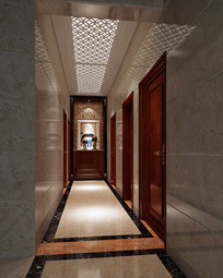 室内过道3D模型