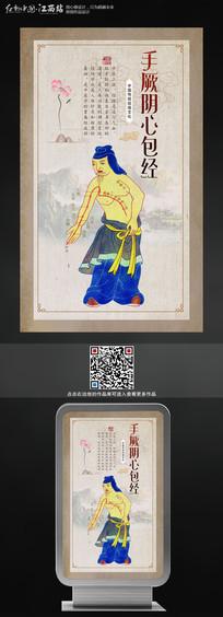 手写阴心包经中医文化展板