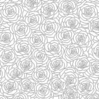 双线玫瑰雕刻图案