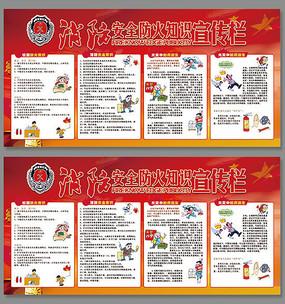 消防安全防火知识宣传展板