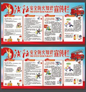 消防日安全防火知识宣传展板