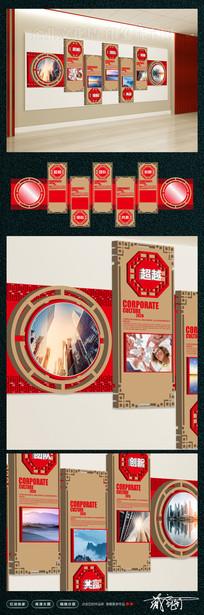 中国风企业文化墙设计