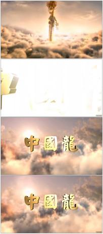 中国龙空中飞舞演绎标识视频模板