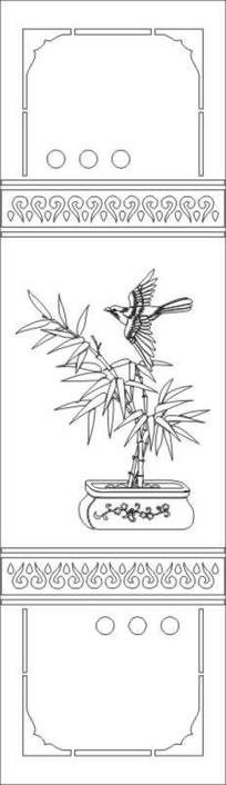 竹子雕刻图案