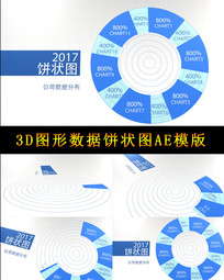 3D图形数据饼状图AE模版 aep