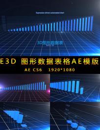 3D图形数据增长柱状图视频