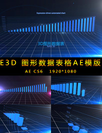 3D图形数据增长柱状图视频 aep