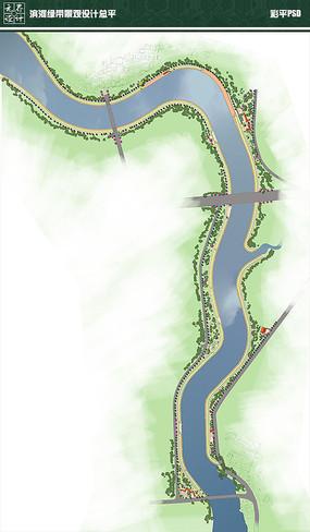 滨河绿带景观设计总平