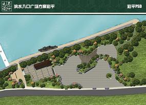 滨水入口广场方案彩平
