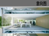 彩色办公室剖面 JPG