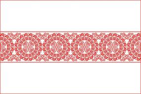 传统民族花纹移门图案