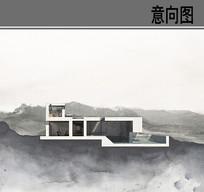 方形小别墅剖面图