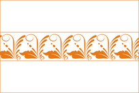 古典卷花纹腰花移门图案