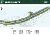 河道景观设计方案总平面