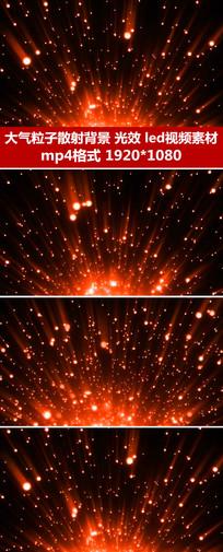 华丽红色星光粒子LED视频