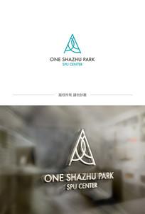 简约A字母企业logo
