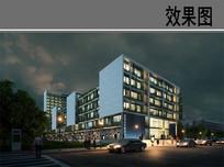 建筑夜景效果图