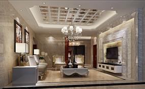 客厅场景3D模型
