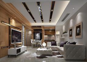 客厅玄关模型