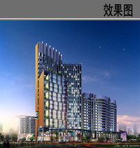 商城建筑绿化景观效果图