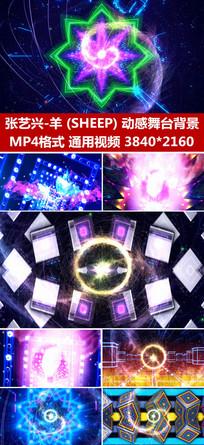 sheep配乐成品表演背景视频 mp4