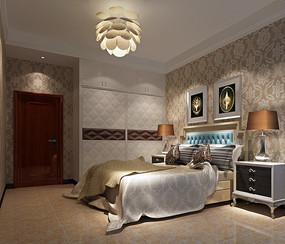 室内卧房设计模型