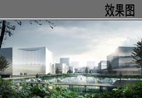 水池景观效果图 PSD