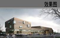 现代建筑 PSD