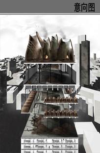 现代建筑剖面图