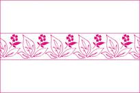 小清新对称小花移门图案