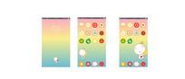 夏天清爽水果手机主题UI AI