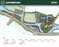 沿河小镇景观方案总平面图