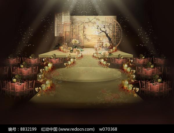 中式复古小清新婚礼效果图图片