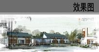 中式古典别墅 PSD