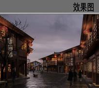 中式酒楼效果图