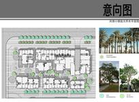 紫金广场风情小镇乔木种植图