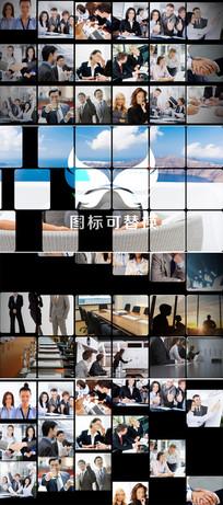 多图片照片墙企业标志展示模板 aep