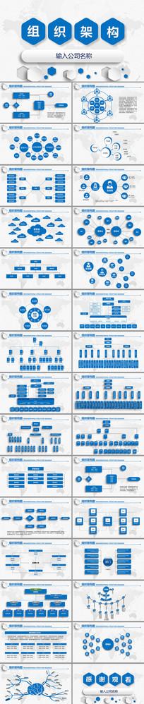 公司组织架构企业机构图PPT