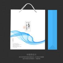蓝色手提袋礼盒包装手提袋设计