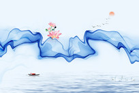 抽象水墨画装饰画挂画